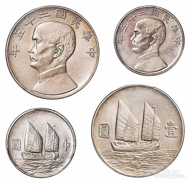 钱币中的中国帆船