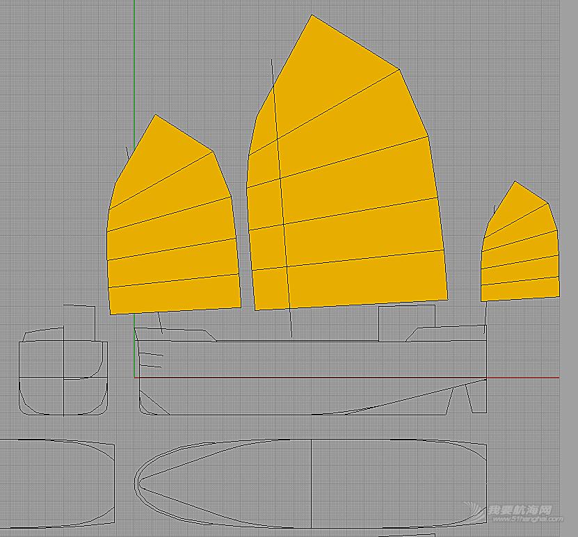 双层甲板中国帆船设计概要