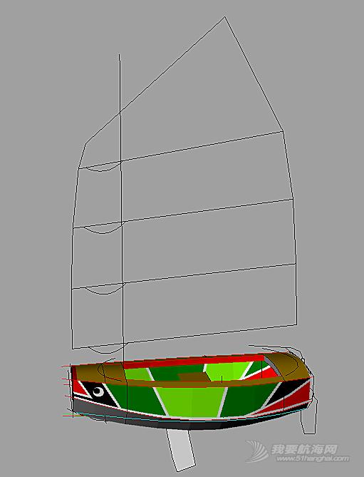 一个2.4m胶合板舢板帆船的设计