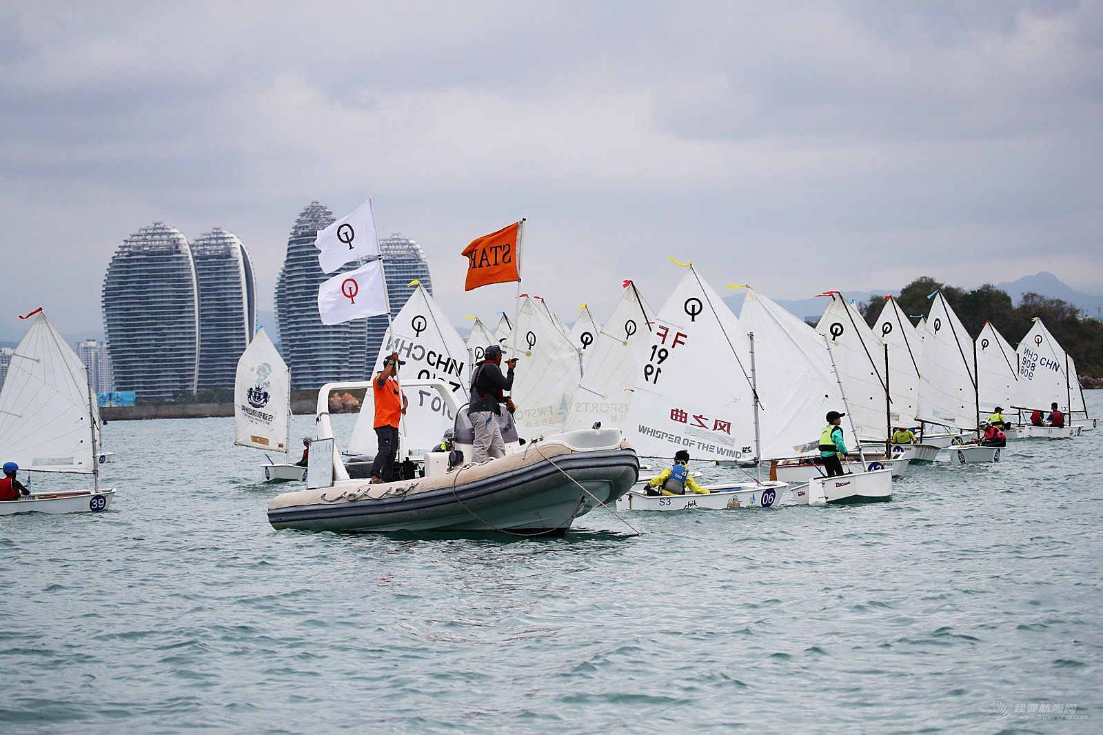 第十届海帆赛OP帆船邀请赛、Hobie16全国帆船精英赛首日精彩图片(组委会提供)8