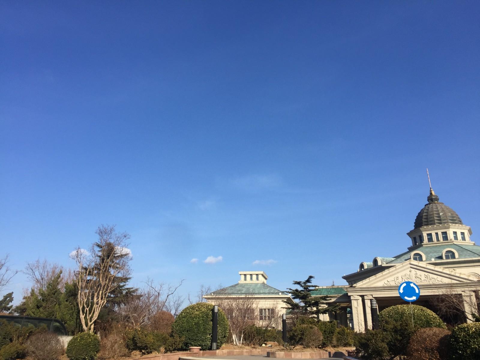 小平岛的天蔚蓝无比