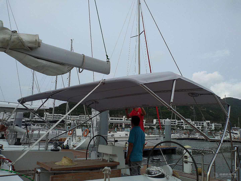 常规简易船蓬的安装与制作