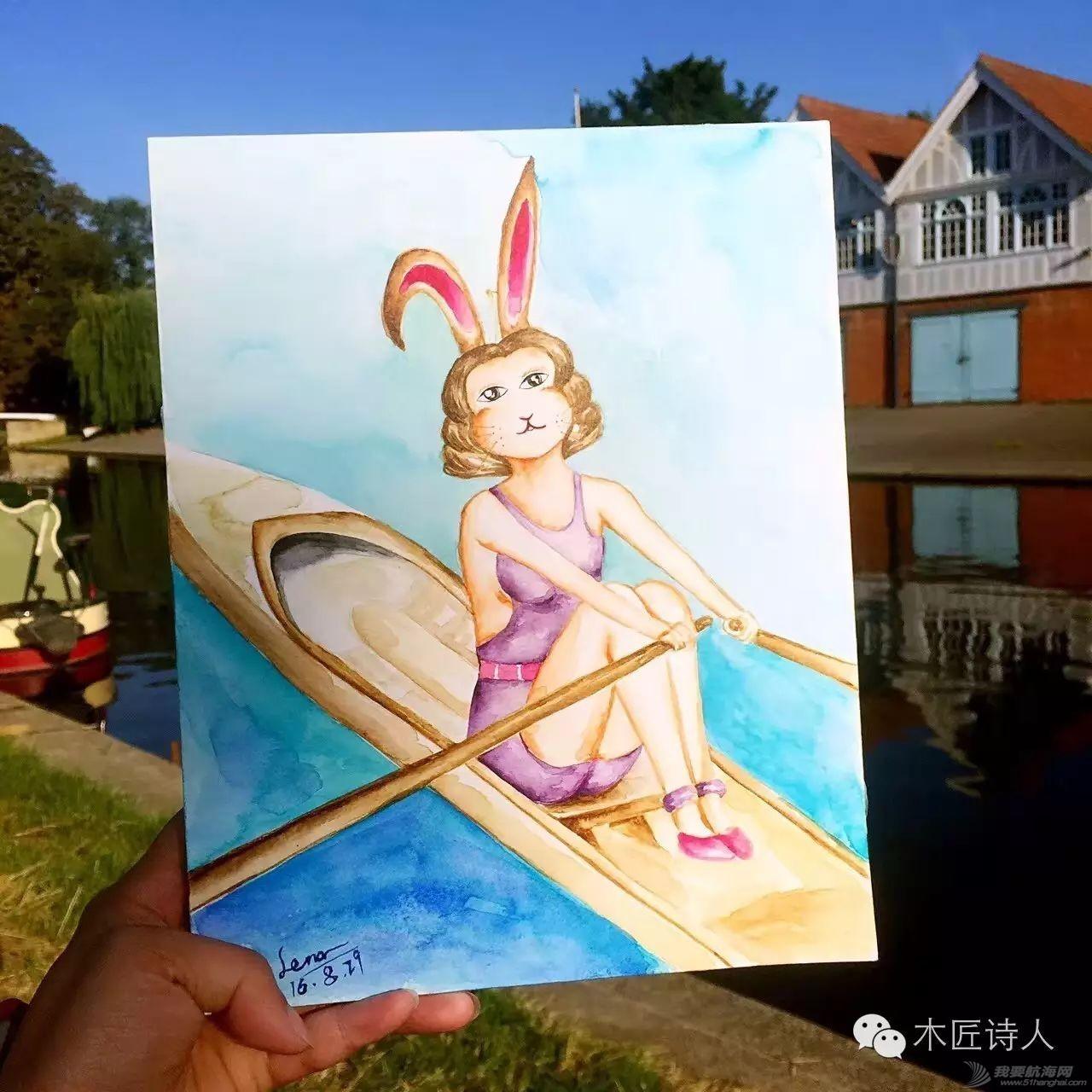 伦敦游艇圈女画家Lena Luo 马奈 莫奈 雷诺瓦 下一个谁会在海上w1.jpg