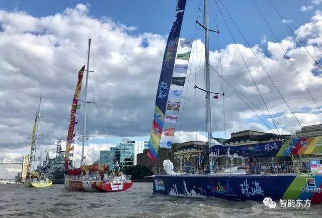 克利伯环球帆船赛伦敦起航 三条中国赛船并肩出发w2.jpg