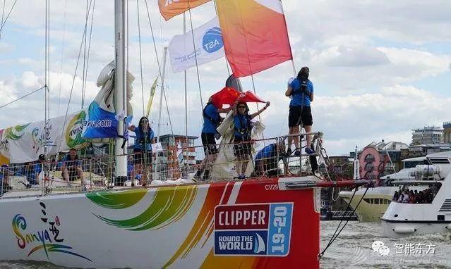 克利伯环球帆船赛伦敦起航 三条中国赛船并肩出发w1.jpg
