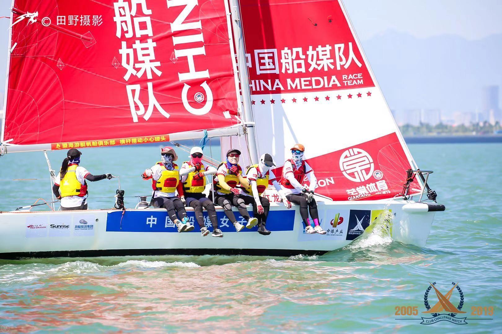 帆船,孩子,中国,螃蟹,小白 中国船媒女子队与2019中国俱乐部杯帆船挑战赛的精彩碰撞
