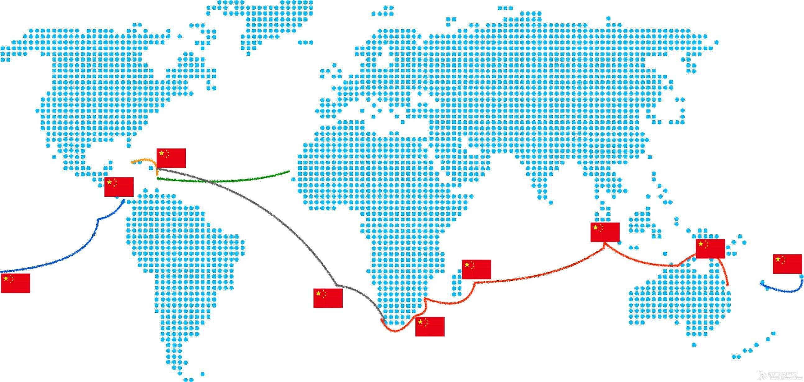 【搭帆船去环球】把中国国旗,挂满全世界