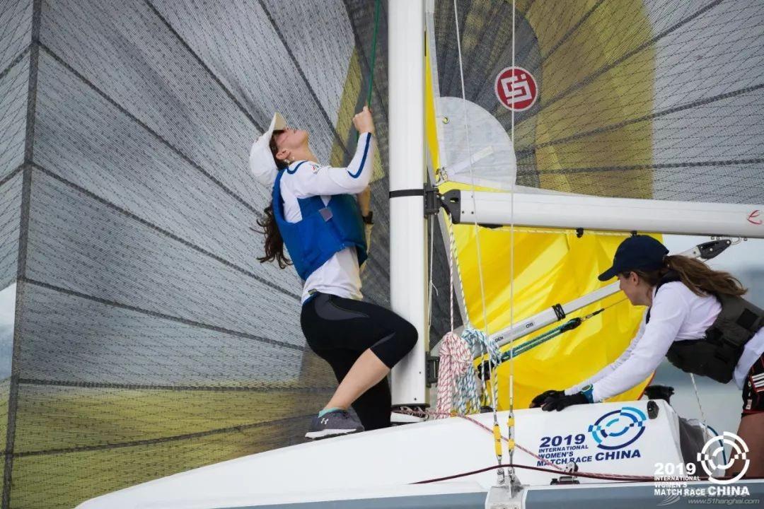 2019中国国际女子帆船对抗赛在滴水湖开赛 法国队展现强大实力 中国赛队渐入佳境w5.jpg