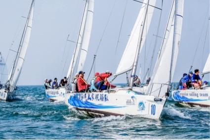"""""""一带一路""""国际帆船赛北海站鸣笛起航"""