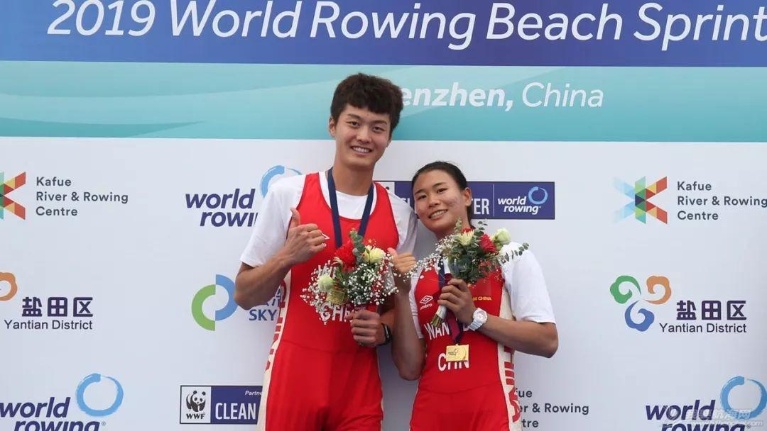 海岸赛艇   中国队包揽世界海岸赛艇沙滩冲刺赛总决赛首日两金w2.jpg
