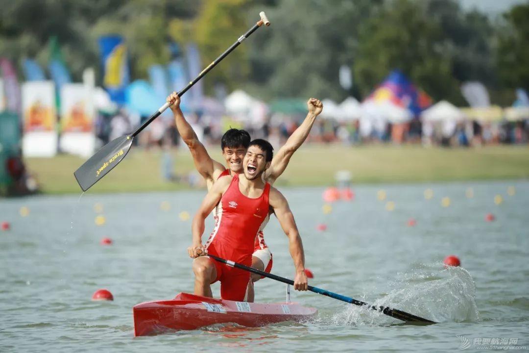 皮划艇世锦赛   中国获世锦赛历史首金 刘浩王浩创世界最好成绩w2.jpg