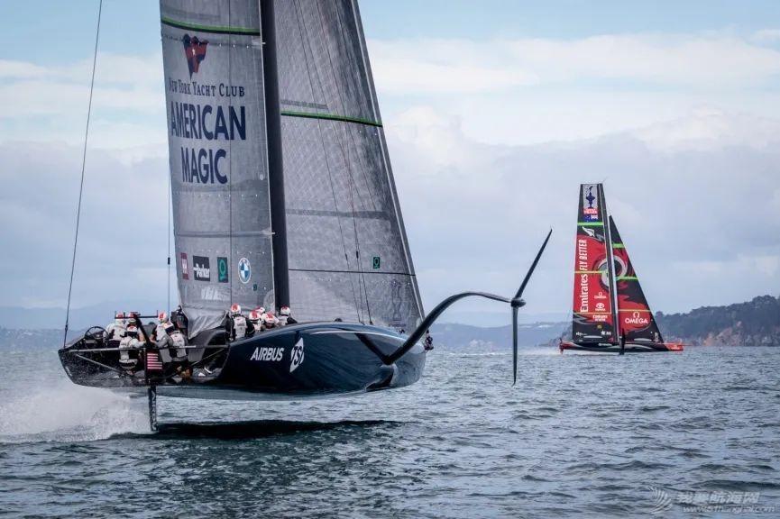 """冤家路窄:新西兰酋长队与美国魔法队在怀特马塔港首次""""对决""""w4.jpg"""