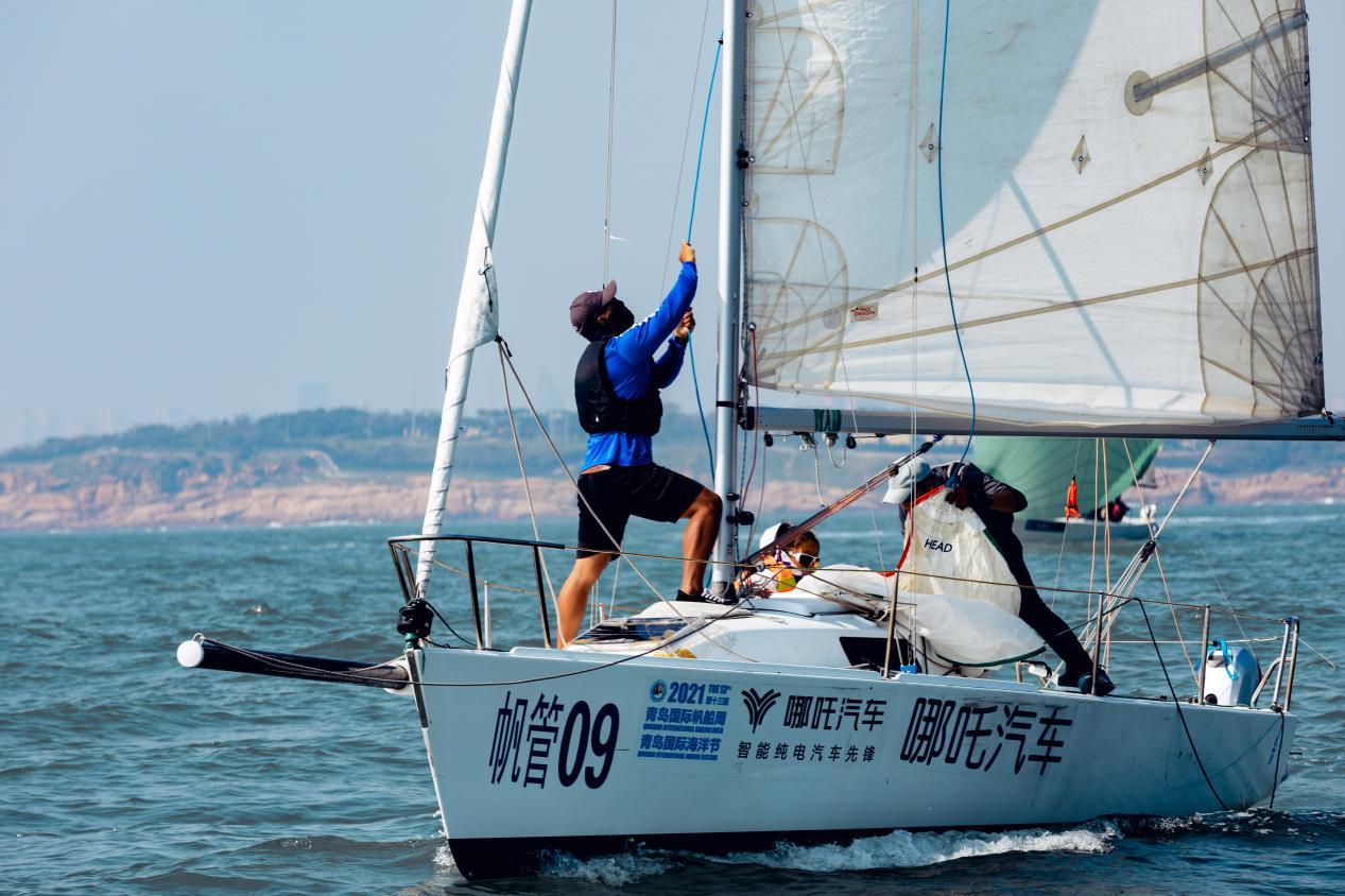 浮山湾迎来2021青岛国际帆船赛